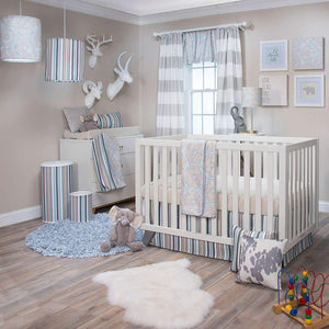 Glenna Jean Luna 2-Piece Starter Bedding Set (Includes tan and white sheet & crib skirt)