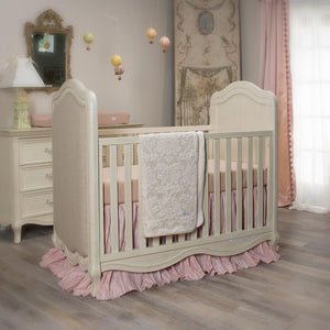 Glenna Jean Maddie 3-Piece Bedding Set (Includes quilt, pink & tan check sheet & crib skirt)