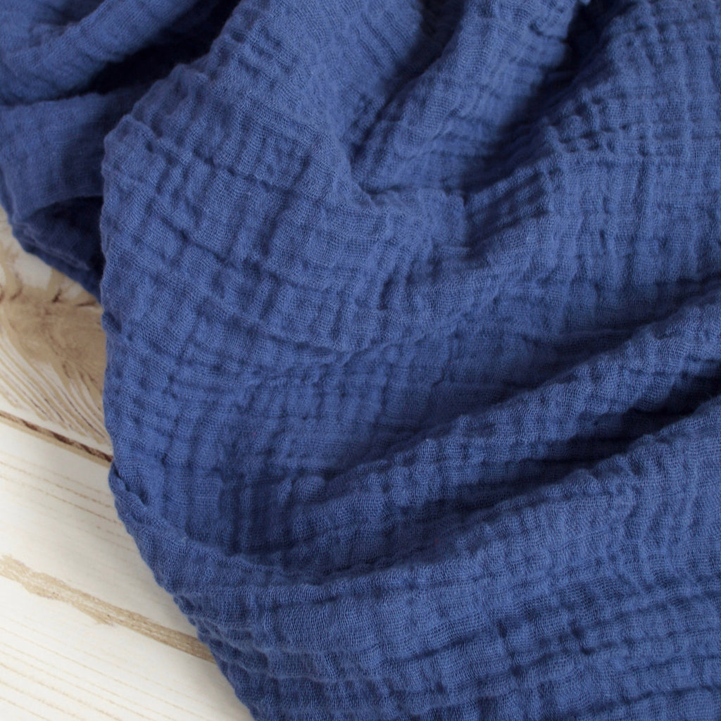 Sugar + Maple Classic Muslin Swaddle - Navy Blue