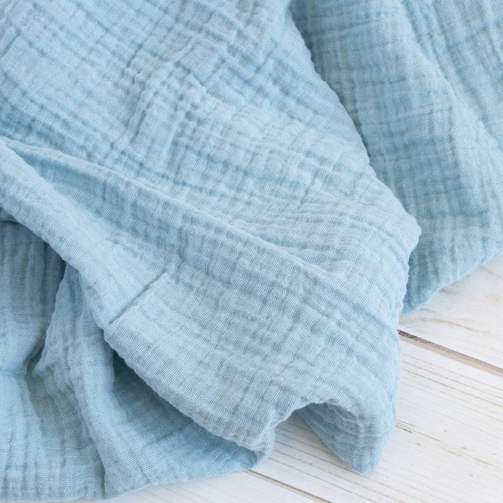 Sugar + Maple Classic Muslin Swaddle - Ocean
