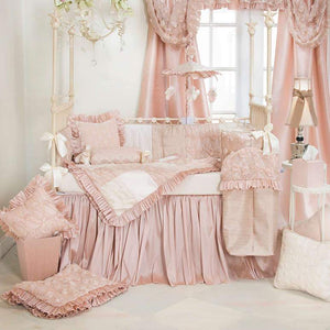 "Glenna Jean Paris 3-Piece Bedding Set (Includes quilt, cream softee sheet & 22"" drop crib skirt)"