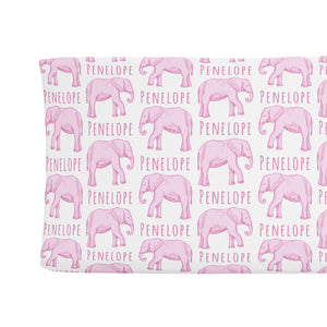 Sugar + Maple Changing Pad Cover - Elephant Pink