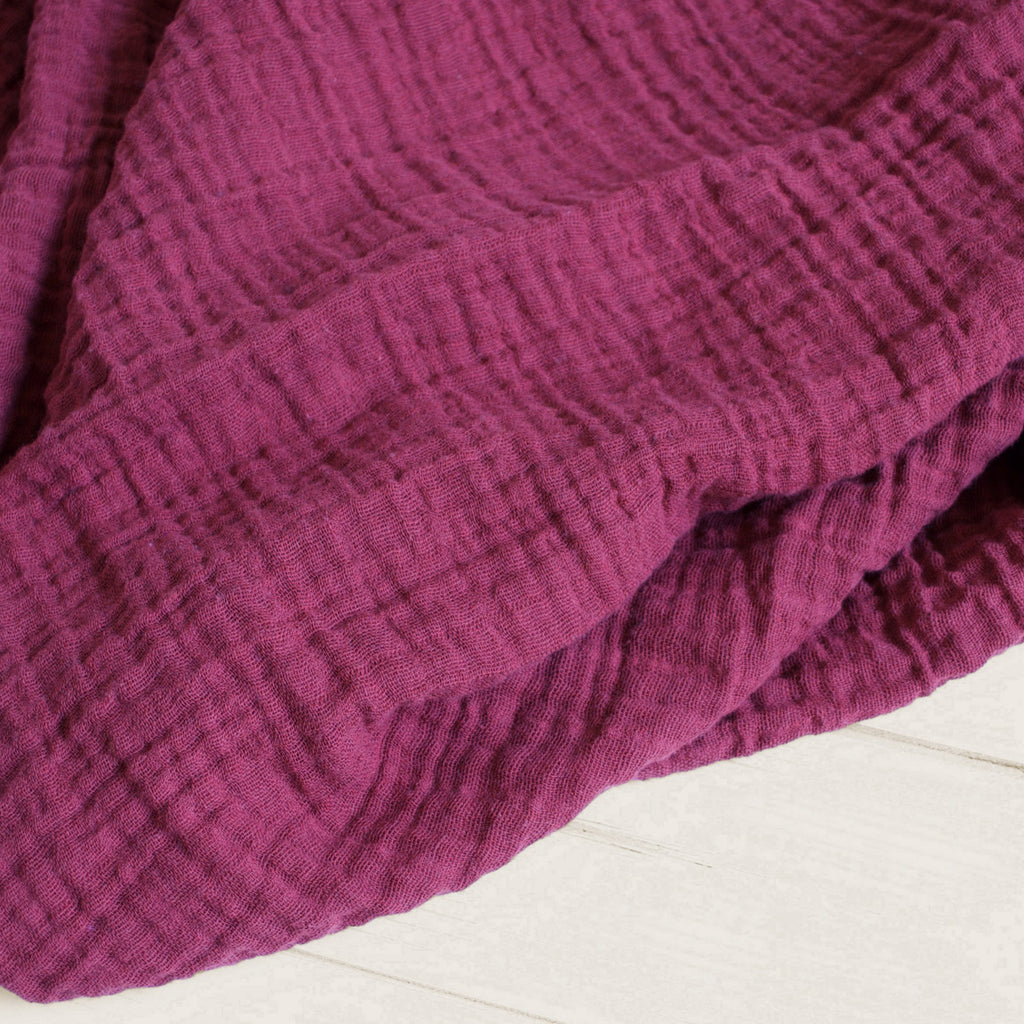 Sugar + Maple Classic Muslin Swaddle - Red Plum