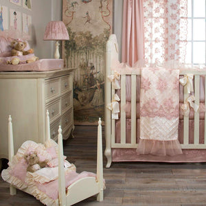 Glenna Jean Remember My Love 4-Piece Bedding Set (Includes quilt, bumper, moiré sheet & crib skirt)