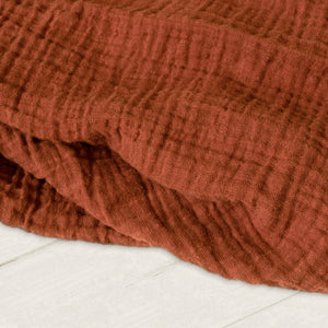 Sugar + Maple Classic Muslin Swaddle - Rust