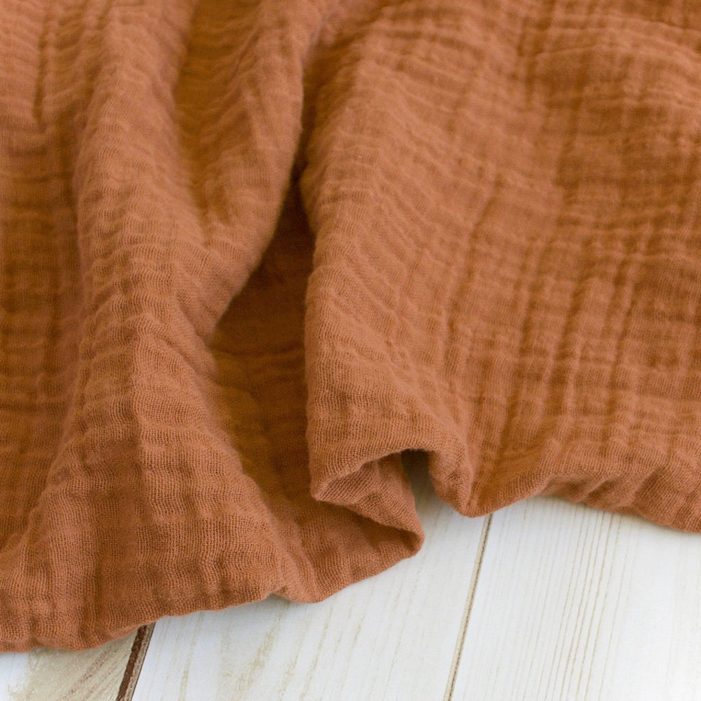 Sugar + Maple Classic Muslin Swaddle - Sienna