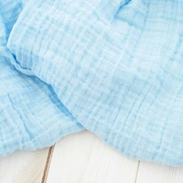 Sugar + Maple Classic Muslin Swaddle - Sky Blue