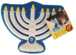PrideBites Menorah Holiday Dog Toy