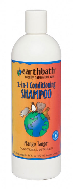 Earthbath 2-in-1 Mango Tango Conditioning Shampoo for Dogs and Cats