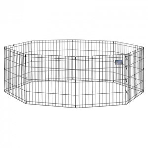 MidWest Black E-Coat Pet 8 Panel Exercise Pen