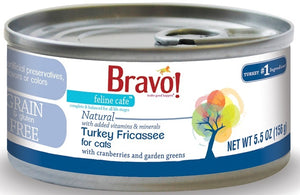 Bravo! Feline Cafe Grain Free Turkey Fricassee Canned Cat Food