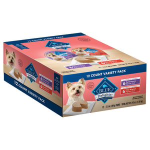 Blue Buffalo Blue Delights Small Breed Filet Mignon & Porterhouse Pate Variety Pack Dog Food Cup