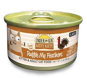 Canidae Under the Sun Witty Kitty: Ruffle My Feathers Grain Free Turkey and Liver Flaked Canned Cat Food