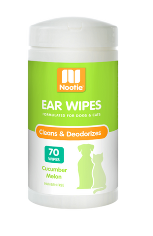 Nootie Cucumber Melon Ear Wipes For Dogs & Cats