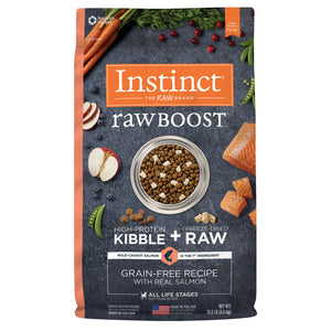 Nature's Variety Instinct Raw Boost Grain Free Real Salmon Recipe Dog Food