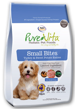 PureVita Small Bites Grain Free Turkey & Sweet Potato Recipe Dry Dog Food