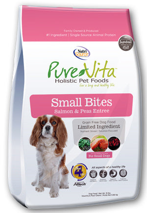 PureVita Small Bites Grain Free Salmon & Peas Recipe Dry Dog Food