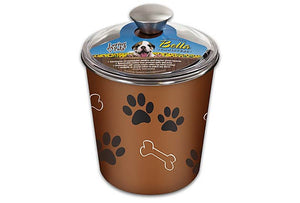 Loving Pets Bella Canister Copper Treat Holder