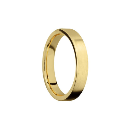 4 MM. Satin Yellow Gold