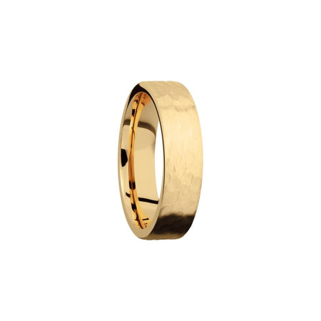 6 Mm. Hammered Yellow Gold