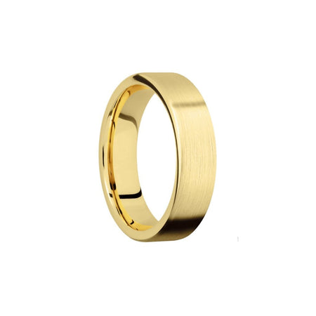 6 MM. Satin Yellow Gold