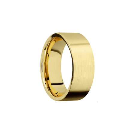 8 MM. Satin Yellow Gold