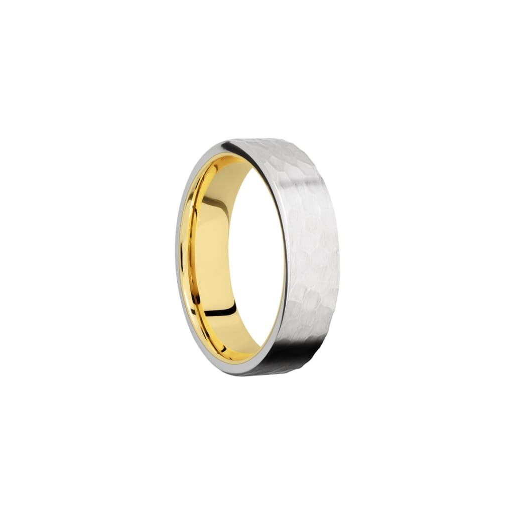 Hammered Two-Tone 6mm