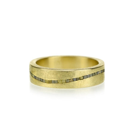 Raw Wave Ring by Todd Reed - 7 / 18k yellow gold
