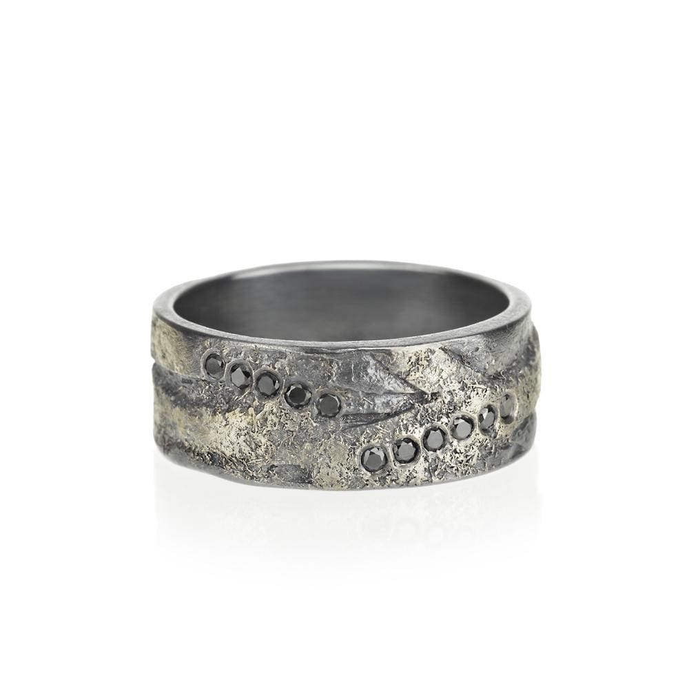 Rough Organic Ring by Todd Reed - 7.5 / With Diamonds