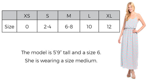 Maxi Dress Size Guide