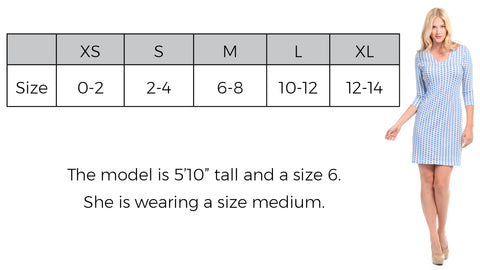 Zanzibar Dress Size Guide