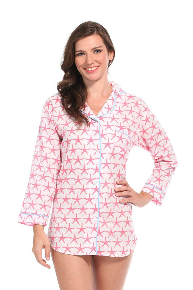Starfish Pink Boyfriend Shirt