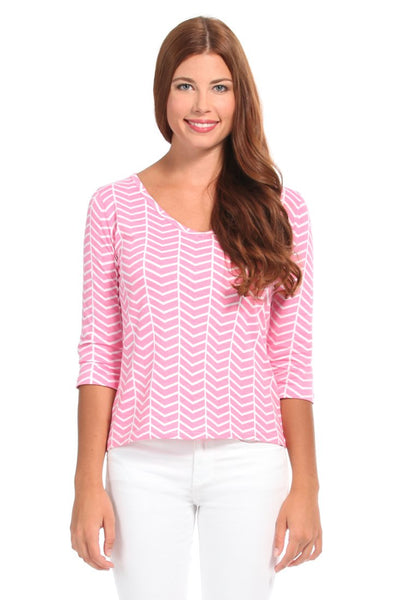 Vortex Pink V-neck T-shirt