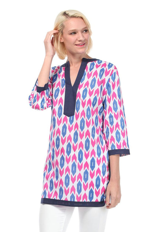 Tribal Arrows Purple Kurta Tunic