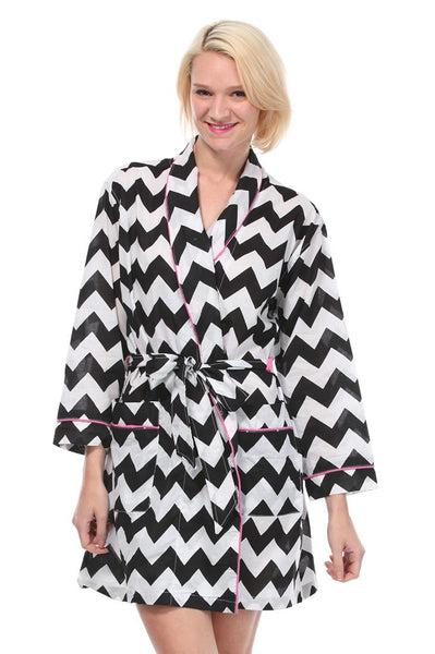 Chevron Black Robe