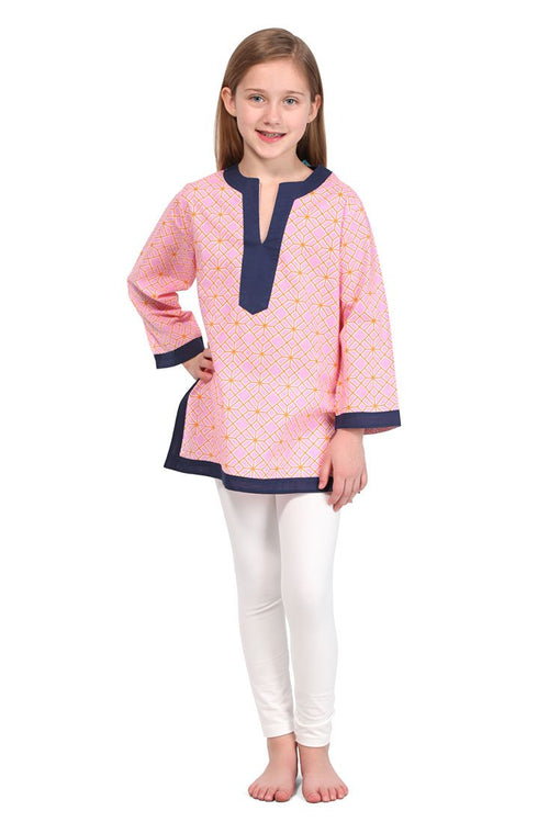 Geneva Pink Girl Cover Up