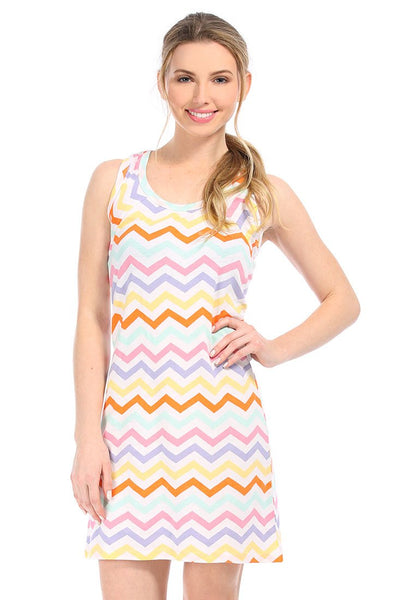 Capri Chevron Multi Color Racerback