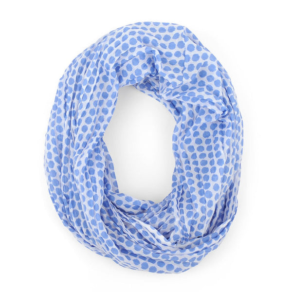 Maise Blue Infinity Scarf