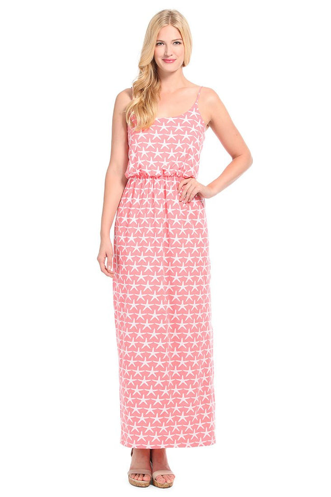 Starfish Coral Maxi Dress