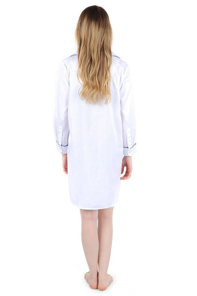 Ginger Jar White Sateen Sleep Shirt