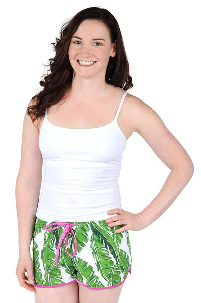 Banana Leaf Cotton Poplin Women's Boxers