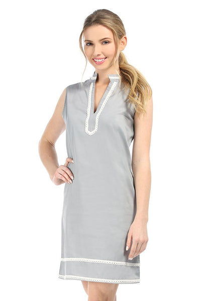 Grey With White Charleston Dress