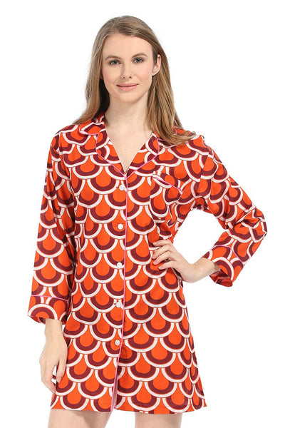 Scalloped Arches Orange Bed shirt