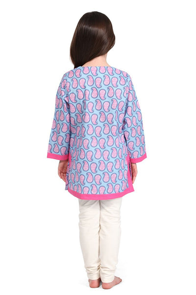 Persian Paisley Blue Girl's Cover Up