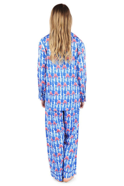 Piccadilly Bay Sateen Full Pajama Set