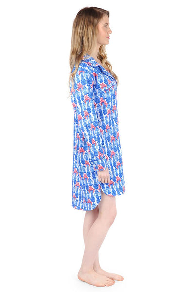 Piccadilly Bay Sateen Sleep Shirt