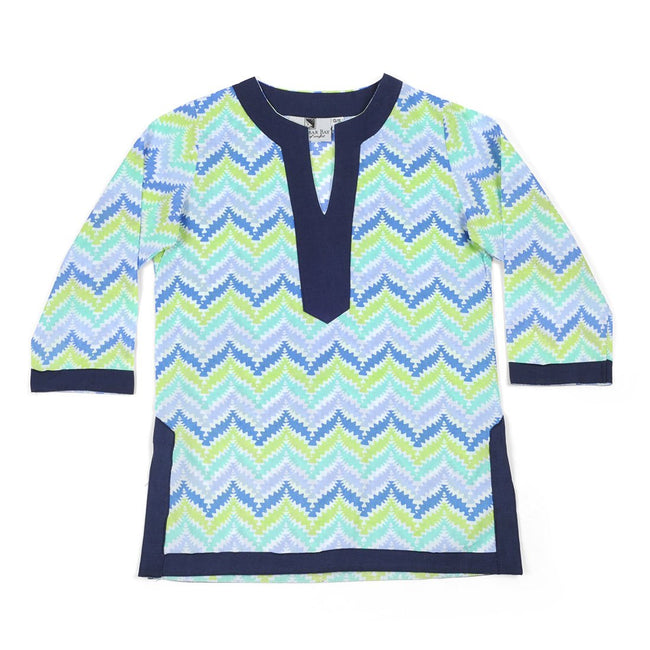 Zig Zag Blue Girl's Cover Up