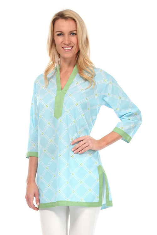 Window Pane Blue Tunic