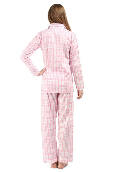Sea Kisses Pink Sateen Pajama Set