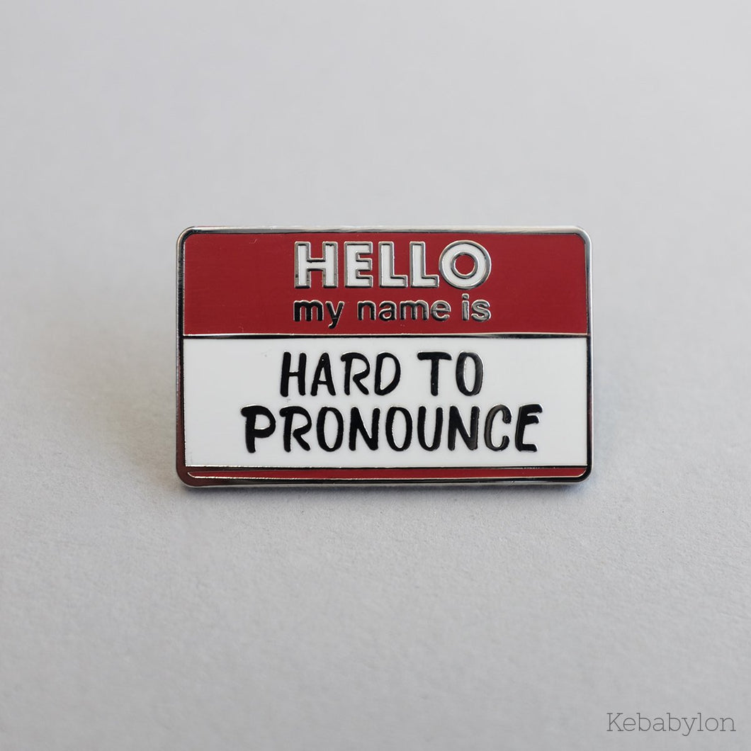 Name Tag Pin